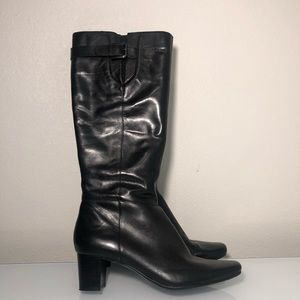 Bandolino new black leather boots women's size 6